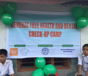 free general health and dental check-up camp in rural area of nepal